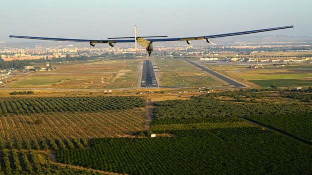Solar Impulse Lands In Spain