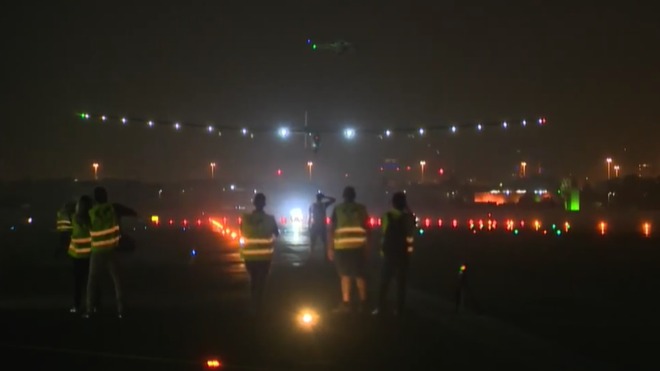 Solar Impulse Lands In Cairo